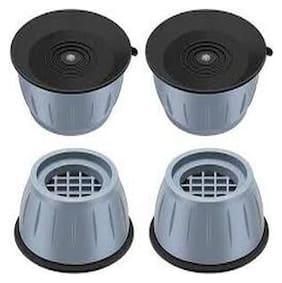 ImegaZ Multipurpose Rubber Gripped Pads for All Brands Washing machines,Refridgerators & Furniture Anti vibration Pads 4Pcs Set
