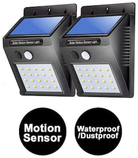 Immutable Motion Sensor 20 Led Solar Light;Outdoor Weatherproof For Driveway Garden Path Yard- Pack Of 2