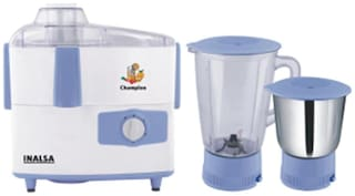 Inalsa CHAMPION 450 W Mixer Grinder ( White & Blue , 2 Jars )