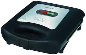 Inalsa EASY TOAST INOX 2 Slices Toaster - Black & Silver