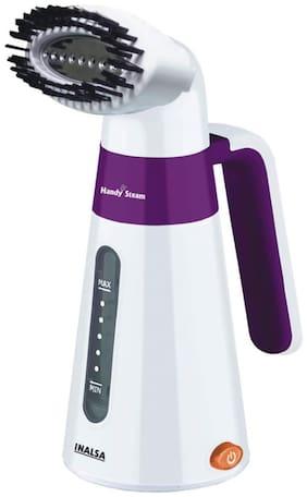 Inalsa Garment Steamer Handy Steam-600W with Detachable Fabric Brush & 120ml Capacity (White/Purple)