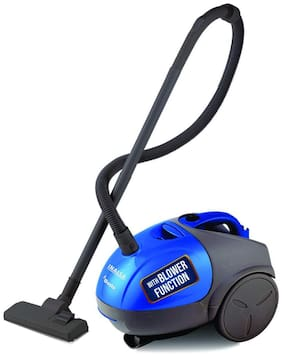 Inalsa Gusto 1000W Vacuum Cleaner with Blower Function and 1.5L Reusable Cloth Dust Bag, Powerful 16KPA Suction, Lightweight & Compact (Blue;Grey)