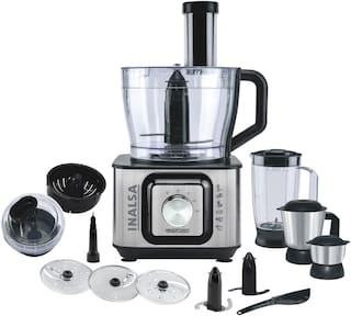 Inalsa Inox 1000 w Food Processor ( Black & Silver )