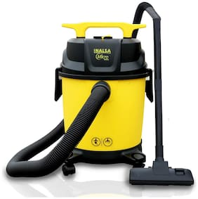 Inalsa Micro WD10 1000W Wet and Dry Vacuum Cleaner with 3in1 Multifunction Wet/Dry/Blowing| 14KPA Suction and Impact Resistant Polymer Tank (Yellow;Black)