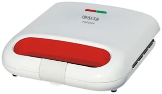 Inalsa PHOENIX GRILL 4 Slices Toaster - White & Red