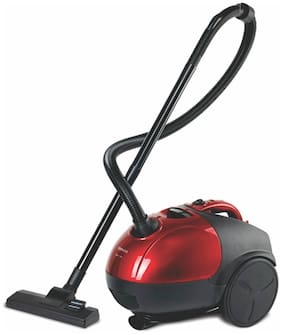 Inalsa QuickVac Dry Vacuum Cleaner with Reusable Dust Bag (Red;Black)