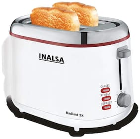Inalsa RADIANT2S 2 Slices Pop-Up Toaster - White