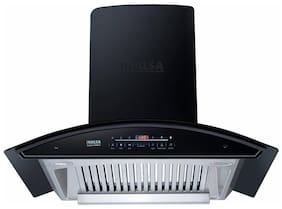 Inalsa Wall Mounted Auto Clean 90 cm 1250 m3/h Black Chimney ( Trident 90BKAC )
