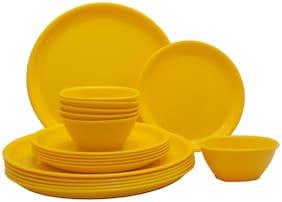 Incrizma 18 Pcs Round Dinner Set Yellow