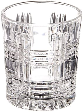 Incrizma Old Fashion Crystal Glass;Unique Cool Crystal Rocks Whiskey Glasses Set of 2 for Scotch;Bourbon;Vodka;Liquor - 280 ml