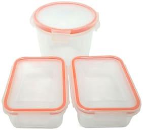 Incrizma Plastic Food Container -3 pcs