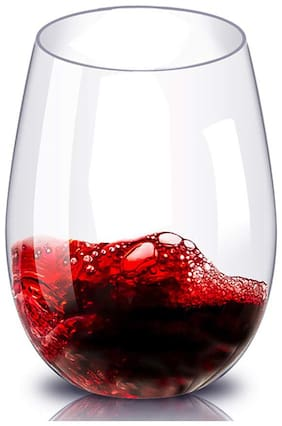 Incrizma Stemless Wine Glasses for Red or White Wine - 440 ml;Set of 6