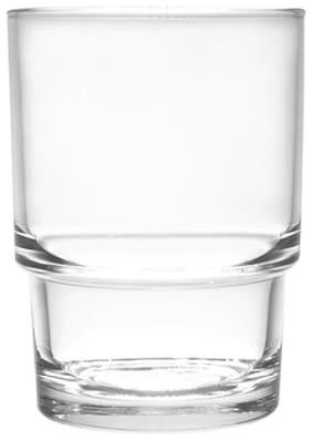 Incrizma Stylish Multi Purpose Glass Clear Tumbler Set Of 6 200 ml