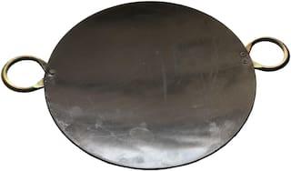 Indian Iron Roti Tawa with 2 Handle (14 inch Tawa)