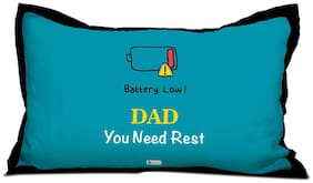 Indigifts Papa Gifts Birthday Dad You Need Rest Quote Blue Pillow Cover 17x27 - Special Gift for Dad-Father in Law-Grandfather-Birthday Gifts