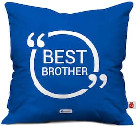 Indigifts Gift For Brother Blue 40.64 cm (16 inch) x 40.64 cm (16 inch) x 1 cm (0.39 inch) inch Cushion Cover Set of 1