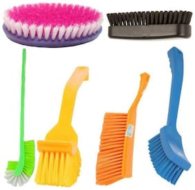 Indo Combo Of Bathroom Brush Set 6 pcs
