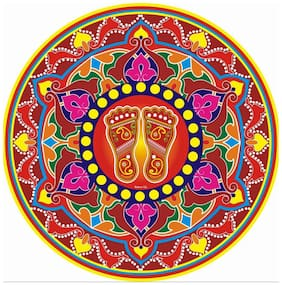 Indo Decorative Diwali Floor Rangoli Poster Pack of 10 Pcs