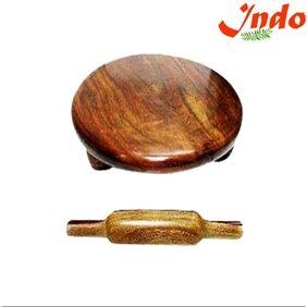 Indo Wooden Chakla Belan Home Use Roti Maker