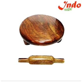 Indo Wooden Chakla Belan Home Use Roti Maker