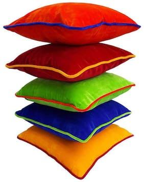 Indoamor Feather Soft Velvet Cushion Covers (Set Of 5)