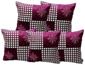 IndoAmor Velvet Cushion Covers (Pack of 5)