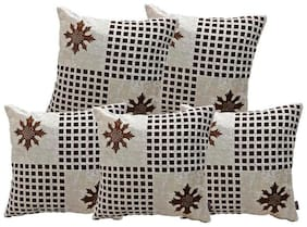 IndoAmor Velvet Cushion Covers (Pack of 5)