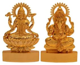 Indoselection Shree Ganesh And Laxmi In Made Of Metal