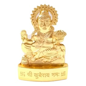 Indoselection Golden Polished Kuber Murti