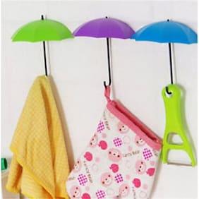 Indoselection Umbrella Drop Style Clothes Key Hat Robe Hall Wall Hook for Door Shelves Hanger Hooks (Set of 3 Pcs)