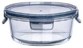 IndusBay Microwave Safe Bowl;635 ml with Airtight Lid Klip and Store Leak Proof Toughened Glass Borosilicate Round microven Bowls with lid Fresh Containers