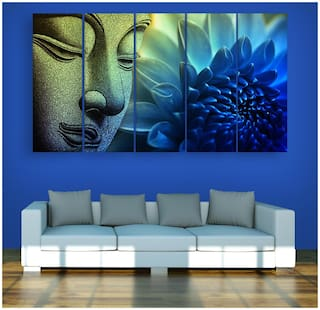 Buy Inephos Multiple Frames Buddha Beautiful Wall Painting For