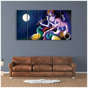 Inephos Multiple Frames Beautiful Radha Krishna Wall Painting for Living Room;Bedroom;Office;Hotels;Drawing Room