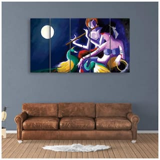 Buy Inephos Multiple Frames Beautiful Radha Krishna Wall Painting