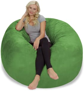 Ink Craft Large 4 Fuf Comfort Suede Bean Bag Cover Only, Green