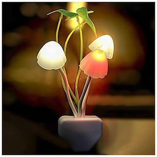 Marketwala Inspire Cloud Color Changing Automatic Sensor Led Automatic on/off Mushroom Night Lamp Assorted