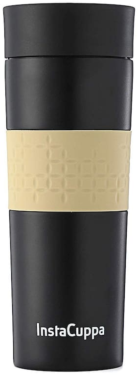 InstaCuppa Black Thermosteel flask ( 350 ml , Set of 1 )