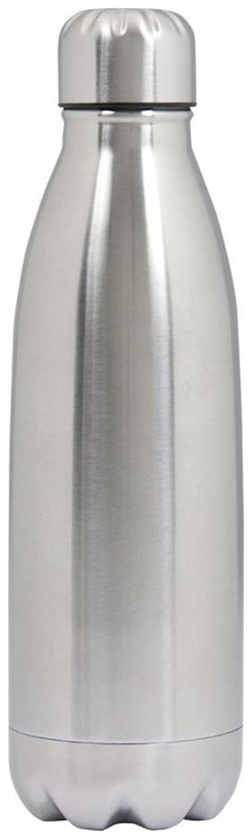 Dynore 500 ml Stainless Steel Grey Water Bottles - Set of 1