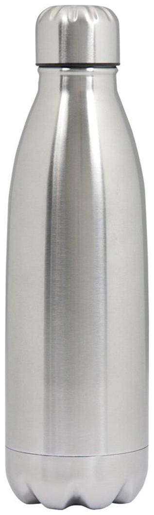 Dynore Stainless Steel Grey Water Bottle ( 500 ml , Set of 1 )