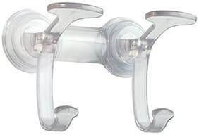 InterDesign Power Lock Spa Hook 2/Hanging Organiser/ Bathroom Organiser/ Bathroom accessories/Hook/ Clear