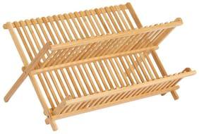 InterDesign Collapsible Bamboo Drying Natural Formbu Dish Rack
