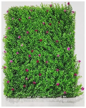Interior Expression Artificial Garden Wall Panel With Floral Pattern(2.6 Sqft Per Piece)