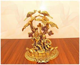 INTERNATIONAL GIFT Gold Plated Radha Krishna God Idol for Birthday Gift, Corporate Gift and Wedding Gifts