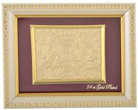 International Gift Laxmi Ganesh Frame (14 cm x 14 cm x 4 cm, Gold)