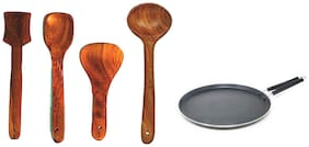 Iron-DOSA TAWA B-1,4,8,6 With Wooden Spatula