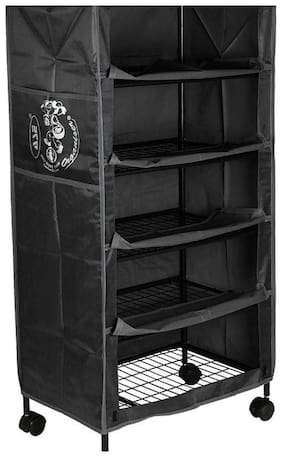 NHR Iron Shoe Rack ( Black )