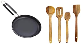Iron-FRYPAN W-5 1 9 4 With Wooden Spatula