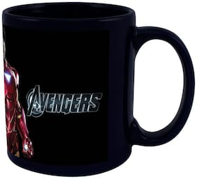 IRON MAN COFFEE MUG BLACK