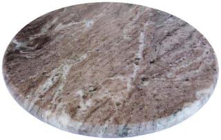 Italian Brown Marble Roti Maker/Rolling Board (Chakla) For Kitchen