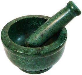 Italian Green Marble Handmade Mortar Pestle Set Home D cor Kitchen Utensil 4 inch